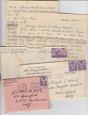 Lot WW2 Covers and Letters U.S Navy Submarine USS Spearfish 1941 - 1944
