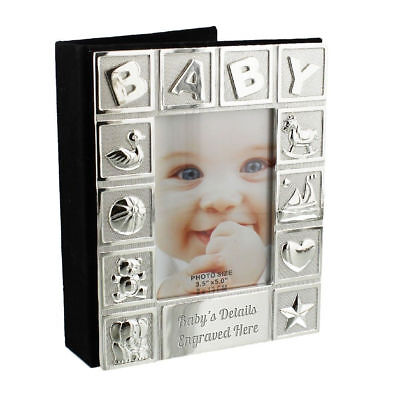 Personalised Silverplated BABY Photo Frame and Album Engraved