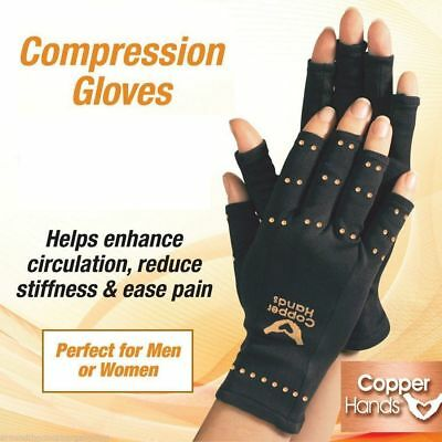 Anti Arthritis Gloves Pain Relief Hands Copper Therapy Compression Medical Fit