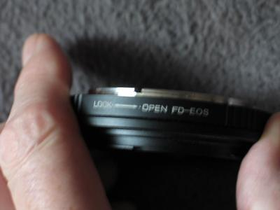 Canon FD to EOS adapter ( for use in manual mode)