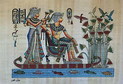 Hand Made Egyptian Papyrus   Size 8 X  12   Inch   17