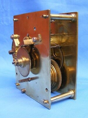 Antique Single Fusee Bracket Or Wall Clock Movement, Victorian, Vgc.