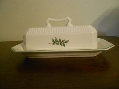 Nikko Christmastime Butter Dish Estate Find Excellent Condition Hard To Find