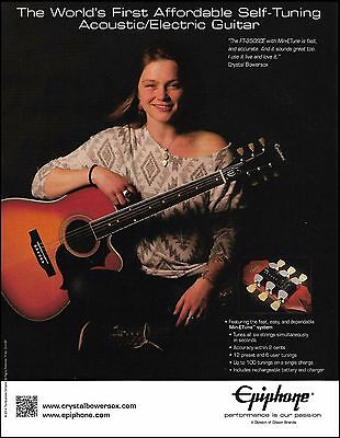Crystal Bowersox for Epiphone FT-350sce acoustic/electric guitar 8 x 11 ad print