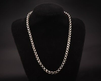 Vintage Chinese Fashion Tibetan Silver Necklace Old Chain Link Collection