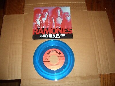 "The Ramones Judy Is A Punk 7"" 45 Rsd Blue Vinyl Limited 2016 Out Of Print New"