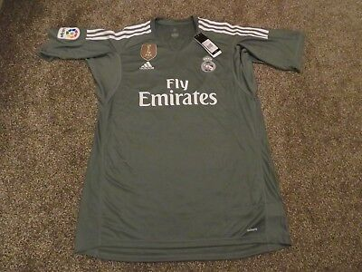 Adidas Real Madrid Men's 2017/18 Goalkeeper XL 'Abuelo 19' BNWT