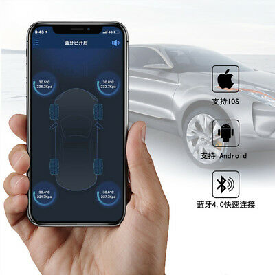 High quality Tire Pressure Monitoring 4 Pieces Sensors Bluetooth BLE TPMS