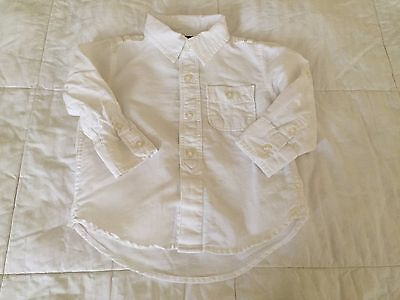 Baby Gap Toddler Boy Linen Long Sleeve Shirt size 18-24 months old S17