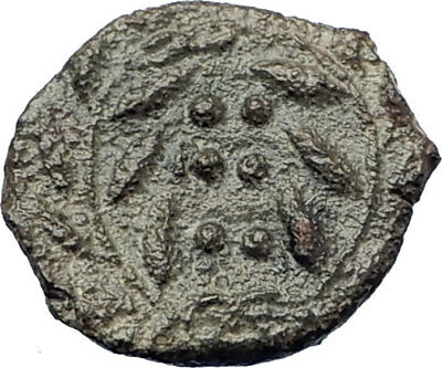 HIMERA Sicily 420BC Ancient  Greek Coin Nymph &  WREATH of success  i73443