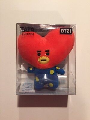 NWT BTS BT21 OFFICIAL TATA Plush Keychain Doll Key Ring Stuffed Toy Line Friends