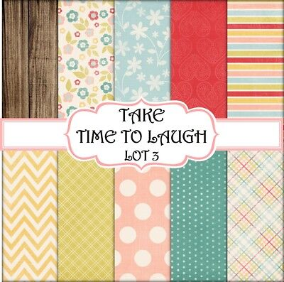 TAKE TIME TO LAUGH - LOT 3  SCRAPBOOK PAPER - 10 x A4 pages