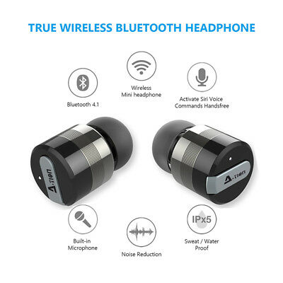 TRULY WIRELESS BT SPORT Earbuds Noise Reduction With Charger LOCAL SHIP
