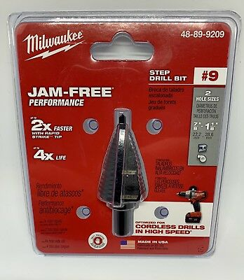 *NEW* Milwaukee 48-89-9209 #9 Step Drill Bit