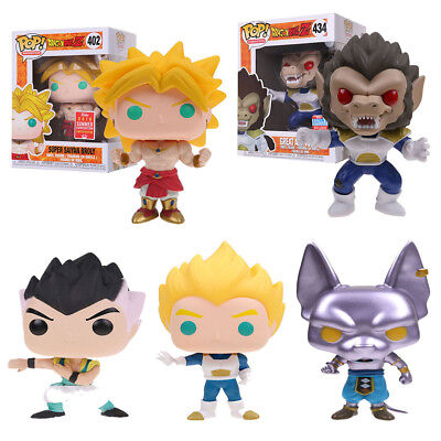 Funko Pop Dragon Ball Z Figures Modello Super Saiyan Broly Vegeta Beerus IN BOX