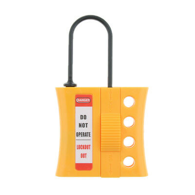 4 Holes Non Conductive Safety Dielectric Slider Full Insulated Lockout Hasp.