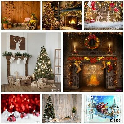 Mixed Vinyl Photo Backdrops Merry Christmas Photography Background Studio Props