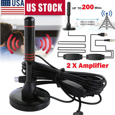 Antenna 1080P TV Digital HD 200-Mile Range Skywire TV Indoor 4K 16ft Coax Cable