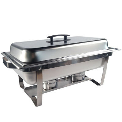 Stainless Steel 4.5L*2 Bain Marie Chafing Dish Buffet Food Warmer Pan