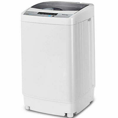Portable Compact Washing Machine 1.6 Cu.ft  Spin Washer Drain Pump 8 Water Level