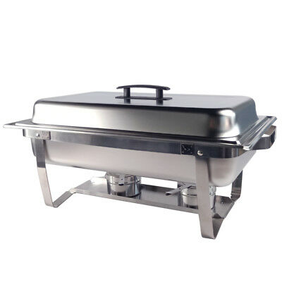 3Lx3 Stainless Steel Bain Marie Buffet Food Warmer Pan Chafing Dishes