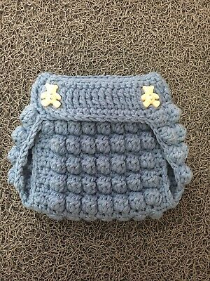 Handmade ❤️ Crochet Premature Baby Diaper Cover Free Postage