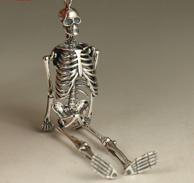 sterling silver 925 pendant ancient ways McQueen activity skeleton personality