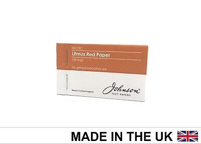 Johnson Test Papers Litmus Red Indicator Paper, 4 x 25 per pack