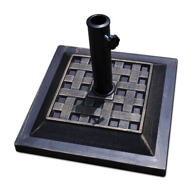 """17.5"""" Heavy Duty Square Umbrella Base Stand Market Patio Standing Outdoor Living"""