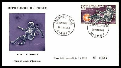 Astronaut Alexei A Leonov 50F Issue 1966 Cachet On Unsealed Fdc