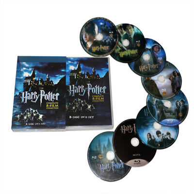 Harry Potter Complete 1-8 Movie DVD Collection Film Box Set Xmas Gift DVDS 2018