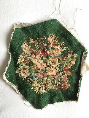FANTASTIC Old Vintage floral Completed CUSHION Piece ? Tapestry Needlepoint