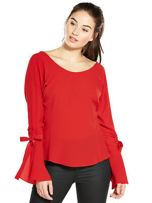 V by Very Ruched Sleeve Blouse