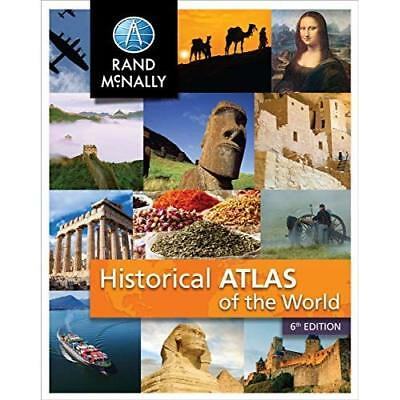 New Historical Atlas of the World - Perfect Paperback NEW Rand Mcnally (C 2015-0