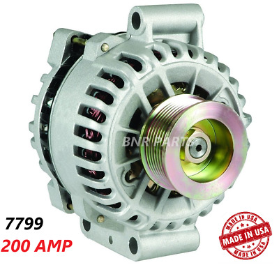 200 AMP 7799 Alternator Ford F Series 99-01 7.3L Aux Unit NEW High Output HD USA