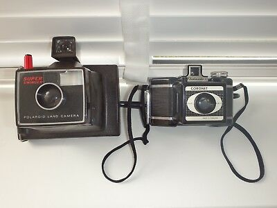 Vintage Cameras x 2 Polaroid Land Camera and Coronet Flashmaster
