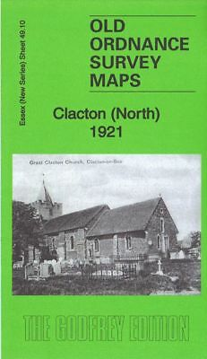 Old Ordnance Survey Map Clacton North 1921 High Street Sodbury House