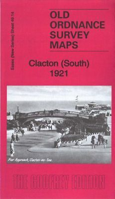 Old Ordnance Survey Map Clacton South 1921 Grand Hotel Royal Hotel Altonpark