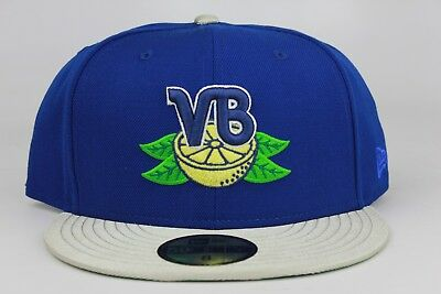 Vero Beach Dodgers Royal Blue Silver MiLB New Era 59Fifty Fitted Hat Cap  Team DS 0fed52cd439