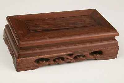 Advanced Wood Snuff Bottles Display Base Stand Old Hand-Carved Patterns