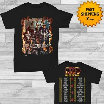 Kiss 2019 End of the Road World Tour concert T-shirt size Men Black shirt Gildan
