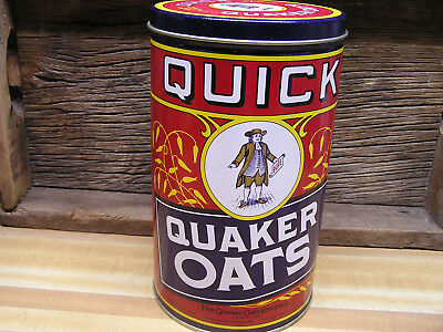 Quaker Oats Tin Canister 1990