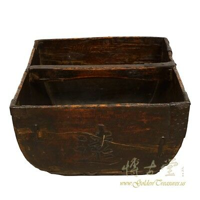 Chinese Antique Official Rice Measuring Basket