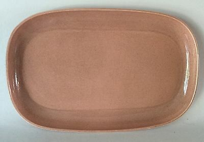 """RUSSEL WRIGHT American Modern CORAL Oblong Oval Platter 13 3/4"""" Steubenville MCM"""