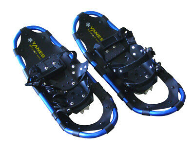 """Yanes Aluminum Snowshoe Kit With Trekking Poles & Carry Bag - 22"""" To 125 Lbs"""