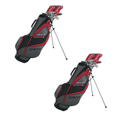 Wilson Profile XD Men's Left Handed Golf Club Package Set w/ Stand Bag (2 Pack)