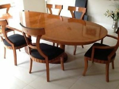 Terrific Art Deco Style Dining Room Table And Chairs Solid Build Machost Co Dining Chair Design Ideas Machostcouk