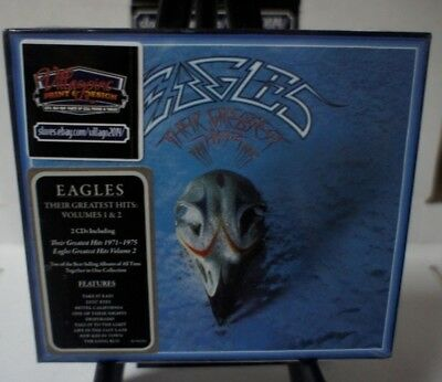 The Eagles - Their Greatest Hits Volumes 1 & 2  NEW CD DIGI BOX FREE SHIPPING!!