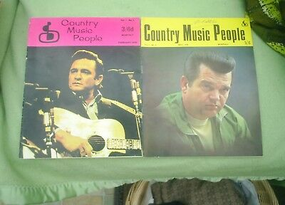 Vintage 1970 Country Music Magazines Johnny Cash Conway Twitty