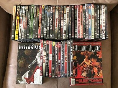 Huge Lot of 98 Horror Movies 3 TV Seasons 2 Horror Magazines DVDs Rare Titles